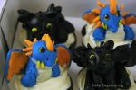 How to Train your Dragon Cupcakes by cake-engineering