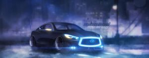 Sci-Fi Infiniti Q60 Coupe by javieroquendodesign