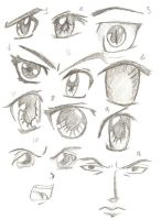 Eyes and faces by FelixLOVETheo