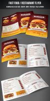 Fast Food / Restaurant Flyer by graphicstock
