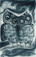 Night Owl Love by InkyDreamz
