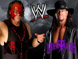 Kane and Undertaker Wallpaper - Modern by deviantfafnir