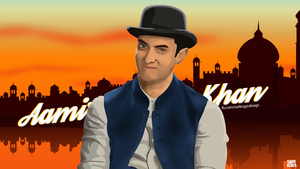 Aamir Khan Vector and Wallpaper by Ezgisarikaya16