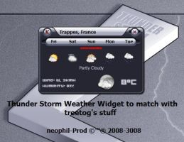 Thunder Storm Weather Widget by neophil