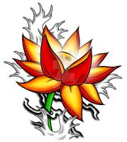 Lotus Tattoo Design by Heavy-metal-ink