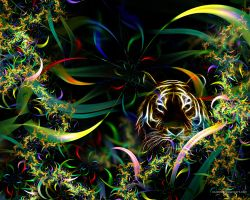 Junglefractal Tiger by love1008