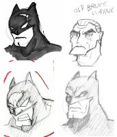faces of batman by Ruxikah