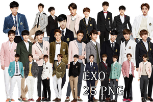 EXO PNG Pack {IVY CLUB 2014 Part.6} by kamjong-kai