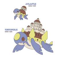 Atlantle and Tortopolis by cobaltdragon