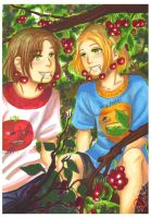 APH: Cherry tree by momofukuu