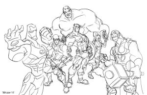 The Avengers - sketch by TedKimArt