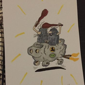 Cartoon A Day 8: The Slag Brothers by Cart00nman95
