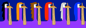 KH Siren Ducks Claymores by jacobyel