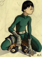 Rock Lee... by Mensaman