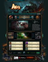 Webdesign for Team AEG - ESL - League of Legends by LoomarEvO