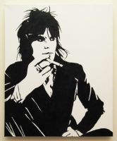 Keith Richards portrait by theartknife