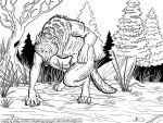 The Tracker Werewolf Lineart by Nightlyre