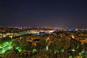 View above Paris by Aerostylaz