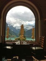 Lunch at Lake Louise by Loulou13