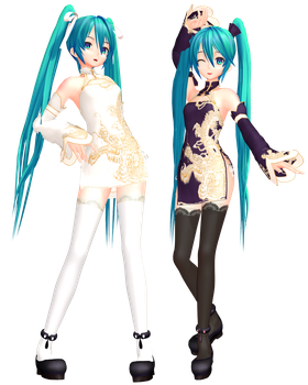 MMD - Njxa2 Chinese Miku3 by InViSioNsTyLe