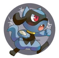 Riolu button by Charln