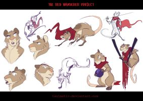 The Red Wanderer - Mouse character design by Tanimatic