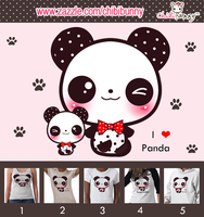 Kawaii Panda T-shirts by tho-be