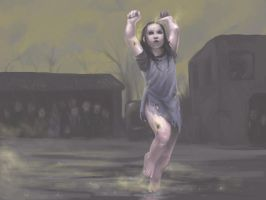 Dancing in the rain by Ilraeth
