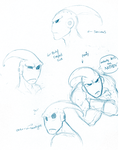 Expressions of Buu_Sketches by Vee-Freak