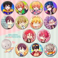 Free! badges for sale by circus-usagi