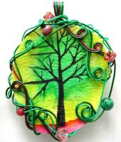 Twilit Forest Pendant no. 6 by sojourncuriosities