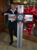 Wolfwood and Cross Punisher by GothX