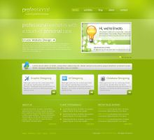 Free Premium Website PSD Template by rjoshicool