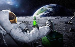 relaxing on the moon by Paullus23