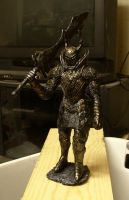 Dark Souls Black Knight with greatsword statue by futantshadow