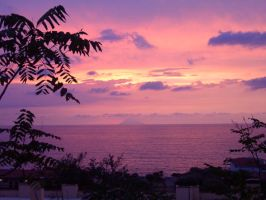 Stromboli's Sunset by mangadrawerika91