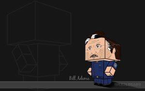 Frakstache Bill Adama Wallpape by BSG75