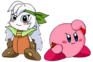 Kirby and Sirica - The Team of Stars! by KingAsylus91
