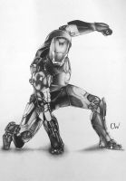 Iron man drawing by CW-Posters