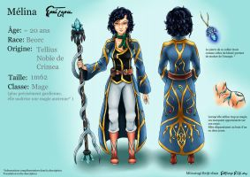 FC Melina - concept art and reference sheet by Mitsurugi-Reiji-chan