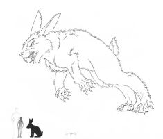 Kaiju sketch: Lepus by painted-wolfs-den