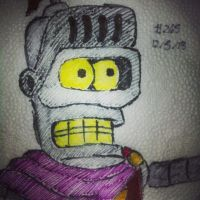 Napkin Art 265 - Titanius Anglesmith - Futurama by PeterParkerPA
