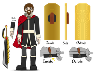 Kenny the Warrior - Reference Sheet by TheGreatWarrior