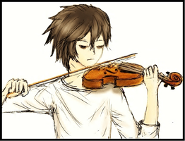L with a Violin by CielDeSonges