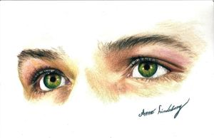 Jared's eyes by AzuriteInside