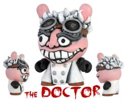 Dunny Monster : Painted The Doctor by zombiemonkie