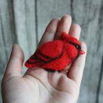red cardinal brooch by znmystery