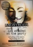 #Flyer - Soirée Anonymous by zakiou