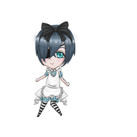 Ciel in wonderland Chibi by veronica1134