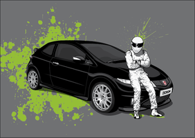 The Stig Drives A Civic by pencil-addict